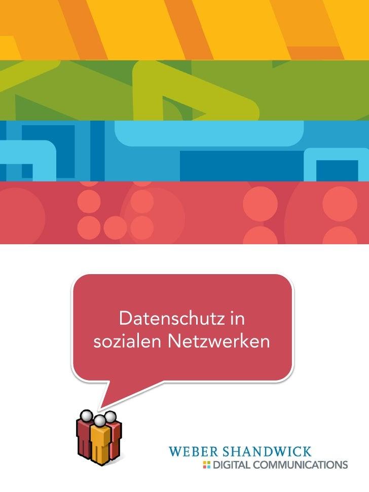 Datenschutz in sozialen Netzwerken         September 2010