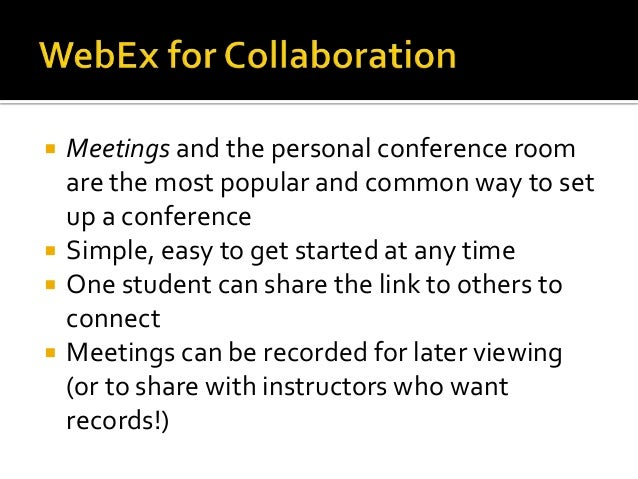 how to set up a webex meeting