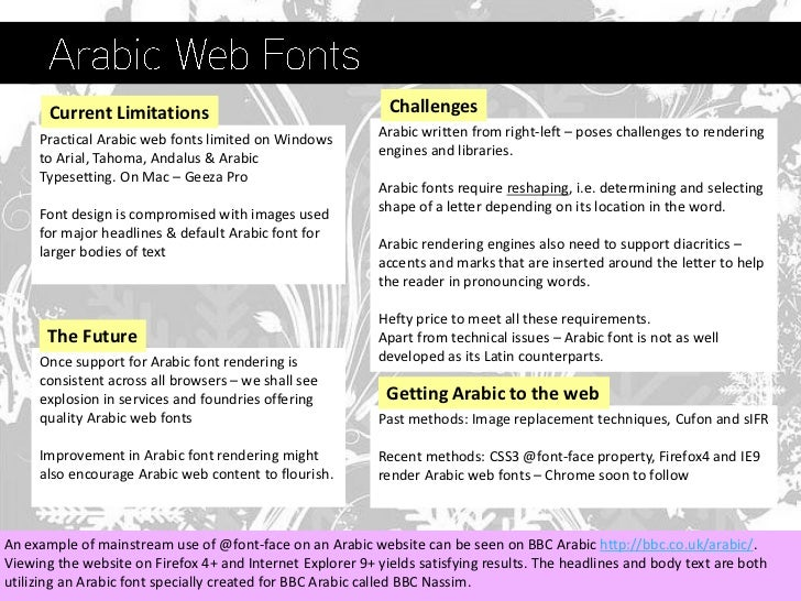 Fonts on the Web - a guide to web fonts