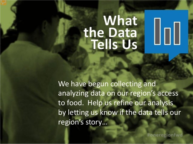 We have begun collecting andanalyzing data on our region's accessto food. Help us refine our analysisby letting us know if...