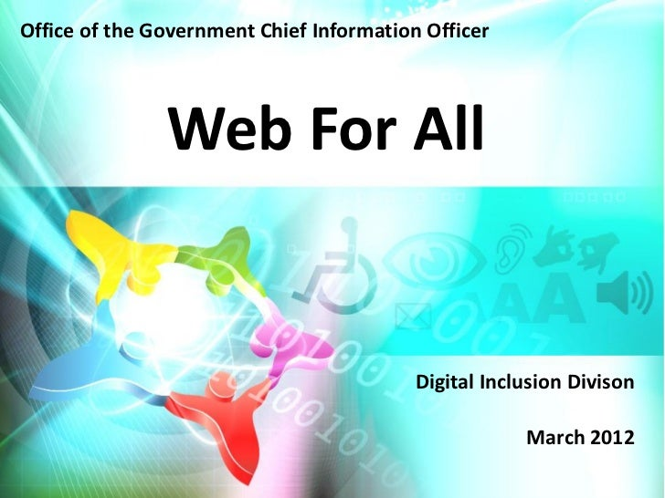 Office of the Government Chief Information Officer               Web For All                                          Digi...