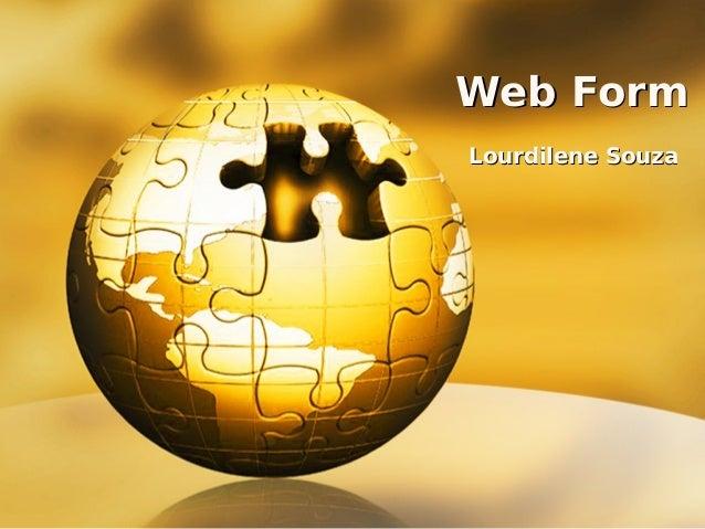 Web Form Lourdilene Souza