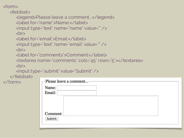 Getting Information through HTML Forms Slide 10