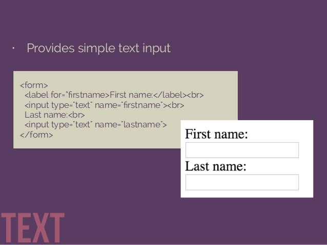 Getting Information through HTML Forms Slide 15