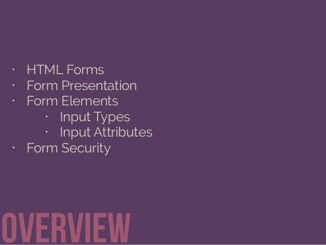 Getting Information through HTML Forms Slide 2