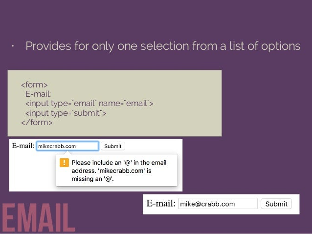 Getting Information through HTML Forms Slide 23