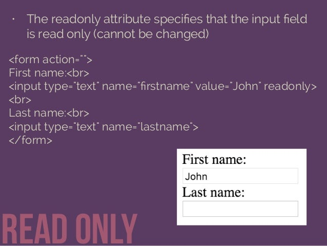 Getting Information through HTML Forms Slide 28