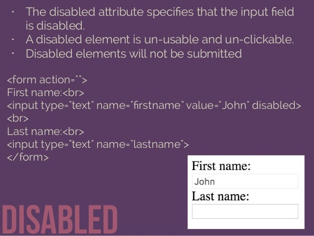 Getting Information through HTML Forms Slide 29