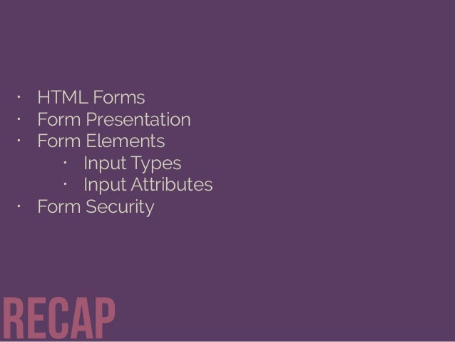 Getting Information through HTML Forms Slide 41