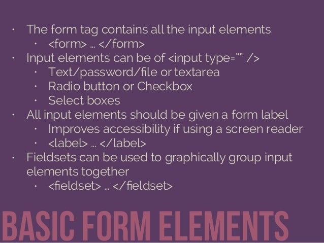 Getting Information through HTML Forms Slide 7