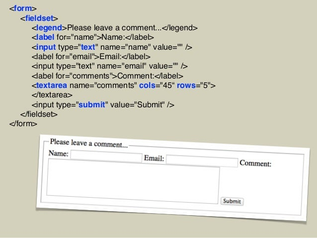 Getting Information through HTML Forms Slide 8