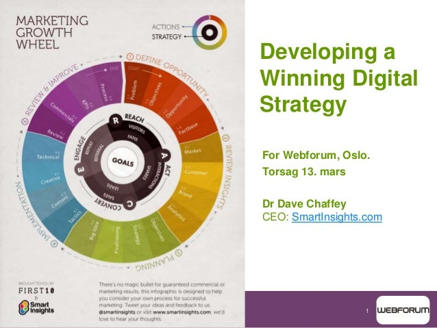 1 Developing a Winning Digital Strategy For Webforum, Oslo. Torsag 13. mars Dr Dave Chaffey CEO: SmartInsights.com
