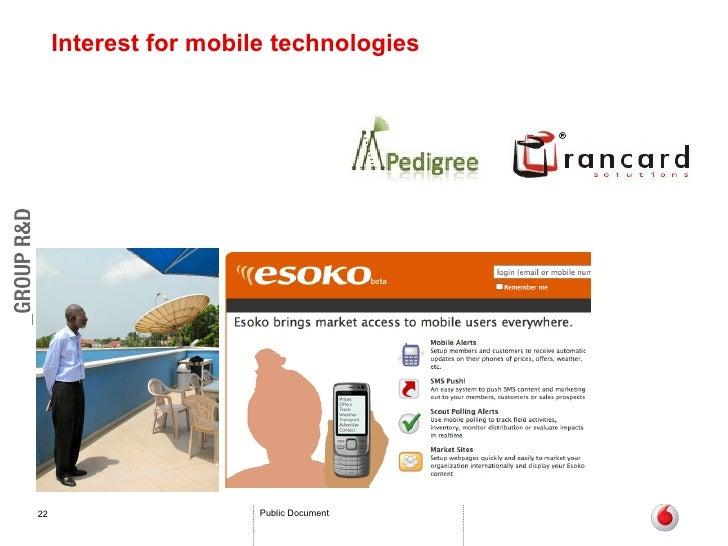 Interest for mobile technologies
