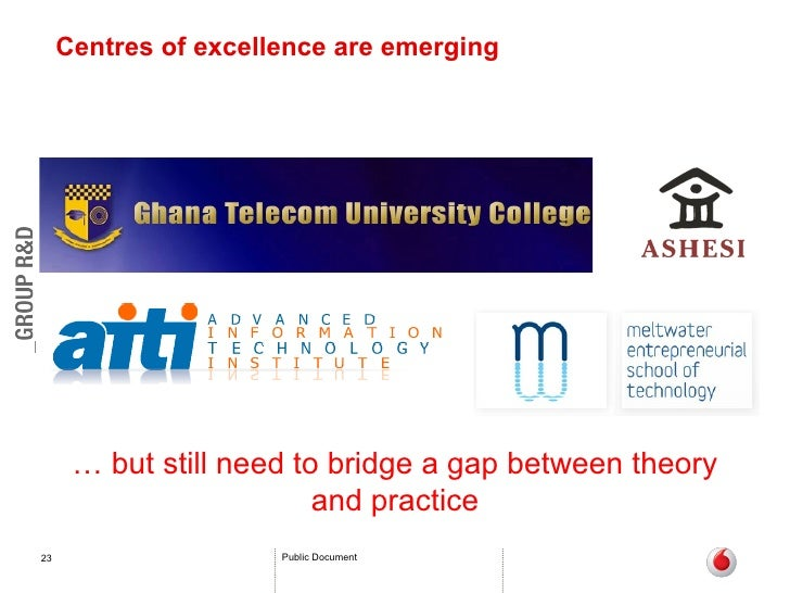 Centres of excellence are emerging …  but still need to bridge a gap between theory and practice