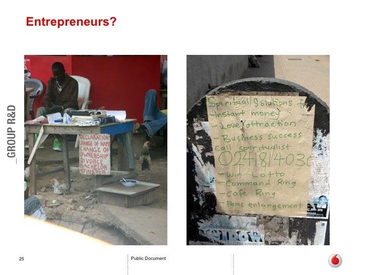 Entrepreneurs?