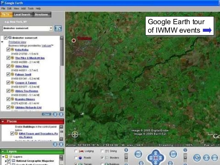 Google Earth tour of IWMW events