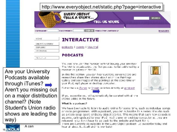 Are your University Podcasts available through iTunes? Aren't you missing out on a major distribution channel? (Note Stude...