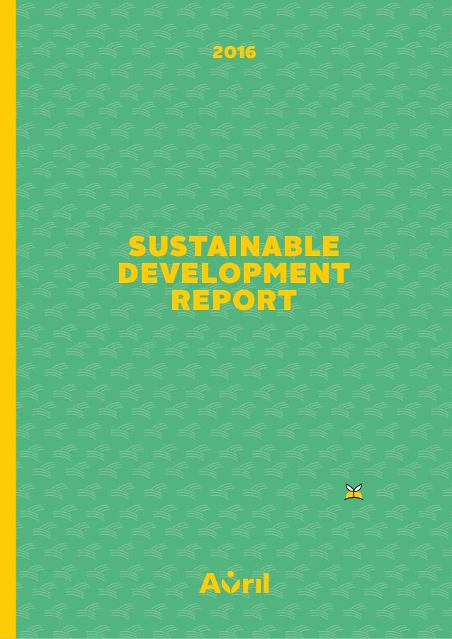 SUSTAINABLE DEVELOPMENT REPORT 2016