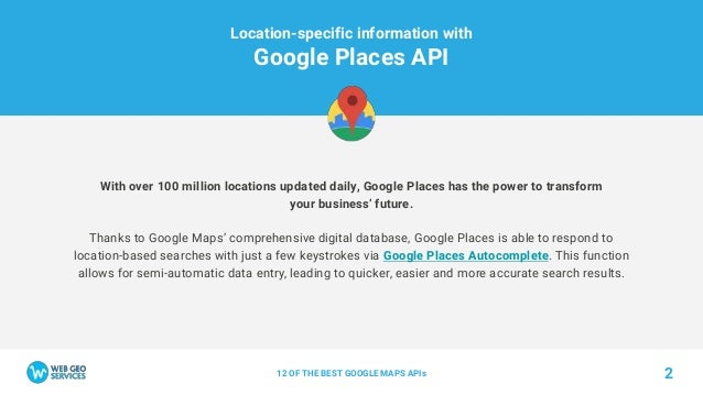 12 OF THE BEST GOOGLE MAPS APIs by Web Geo Services