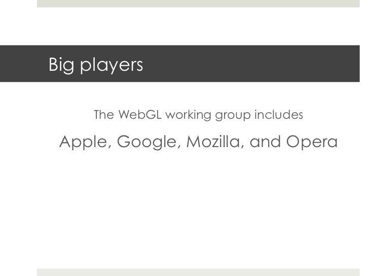 Web3D - Semantic standards, WebGL, HCI