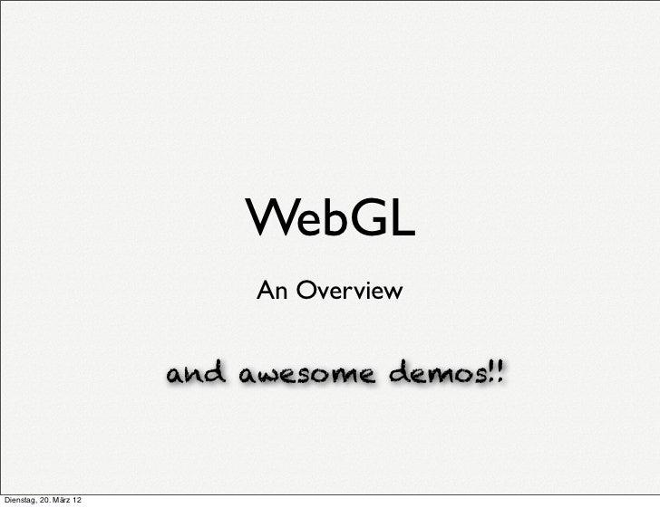 WebGL - An Overview