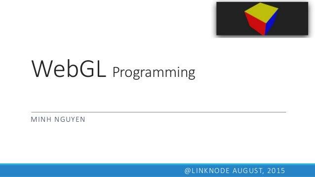 WebGL - 3D programming
