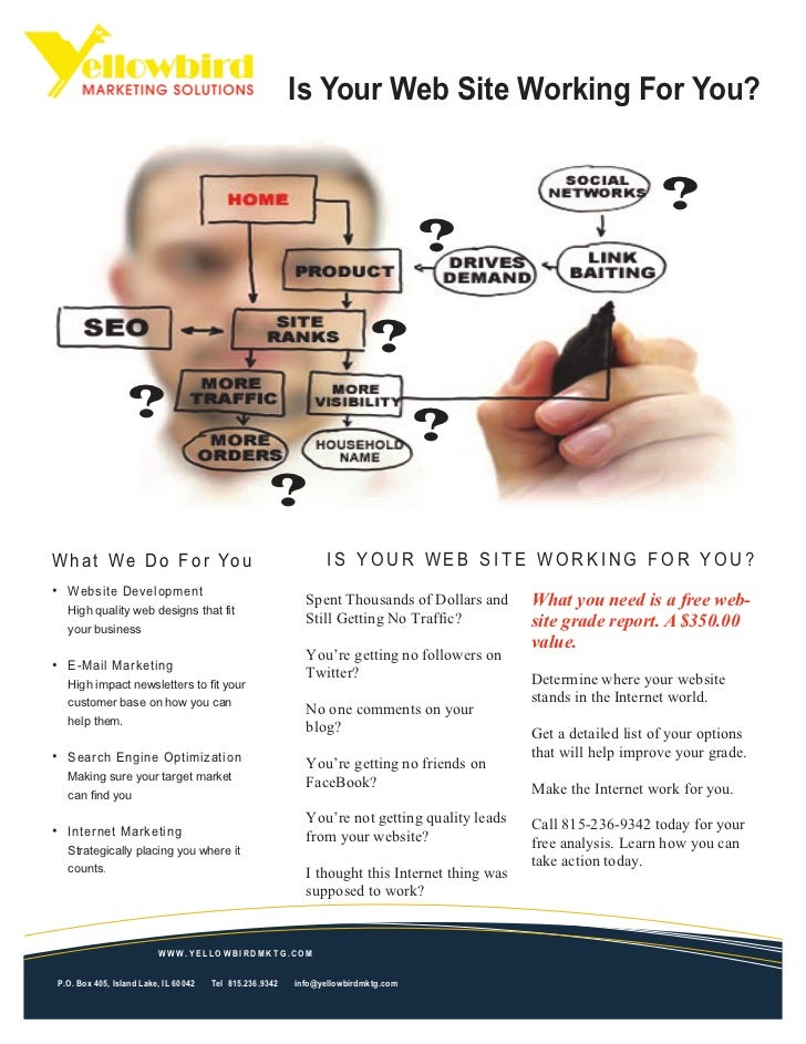Is Your Web Site Working For You?                                                                                         ...