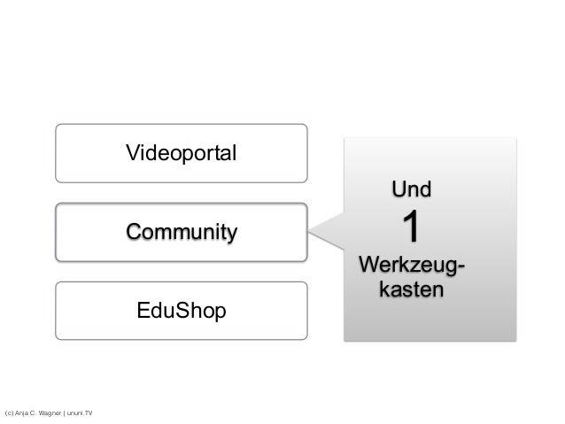 (c) Anja C. Wagner   ununi.TV Videoportal Community EduShop Und 1 Werkzeug- kasten