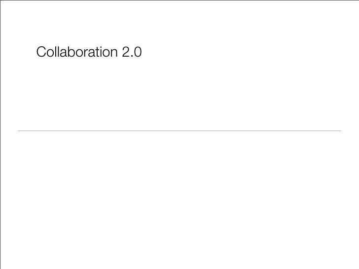 Collaboration 2.0
