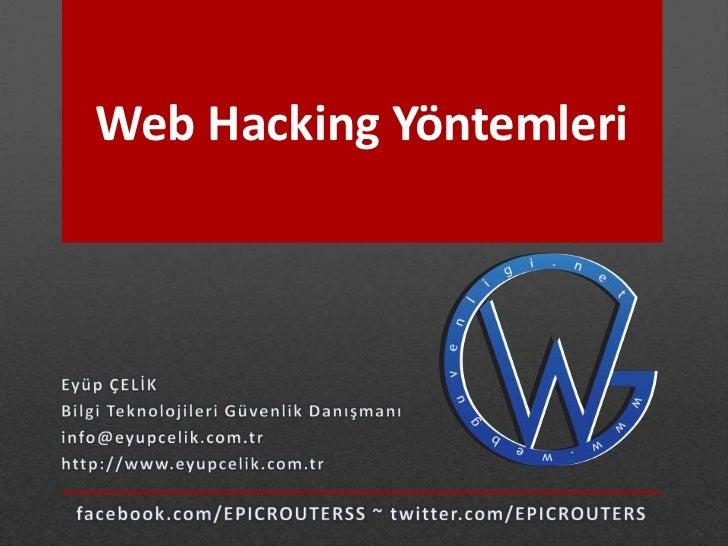 Web Hacking Yöntemleri
