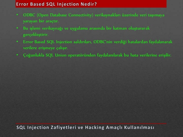 • Web sitesinde bulunan kodlama hatalarından (include, require) meydana gelir• RFI saldırılarında en büyük etken değişkene...