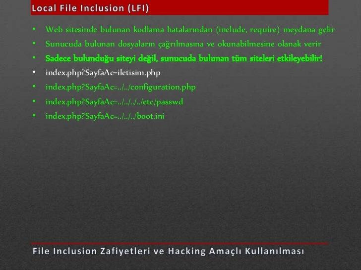 Web Guvenligi Konferansi - Web Hacking Yontemleri