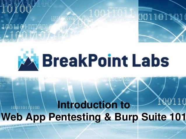 Introduction to Web App Pentesting & Burp Suite 101