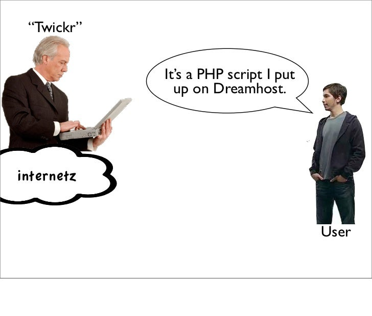 """""""Twickr""""               It's a PHP script I put               up on Dreamhost.     internetz                               ..."""
