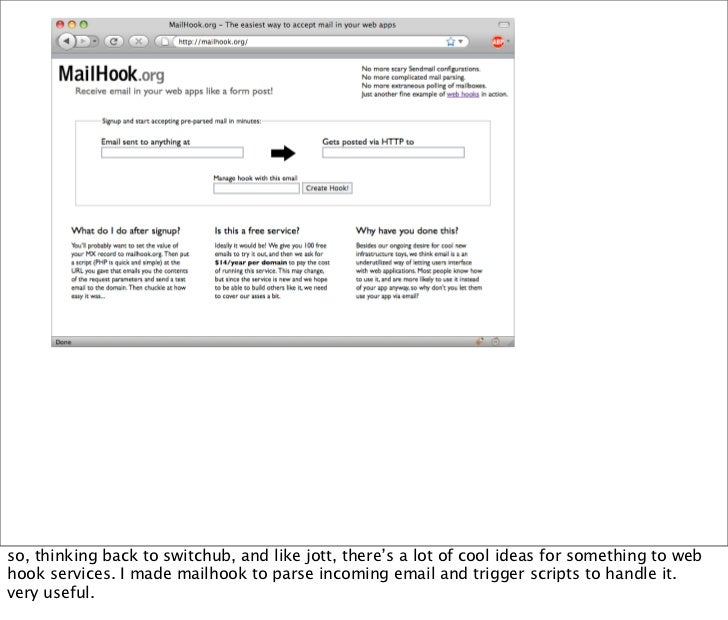 making things more web friendly... working with lisa dussault to make a IMAP to REST bridge...