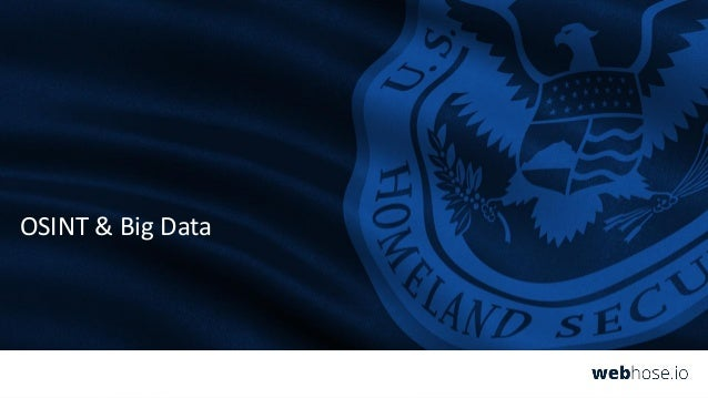 Open Web Data Feeds for Cybersecurity & Homeland Security Intelligence Slide 3