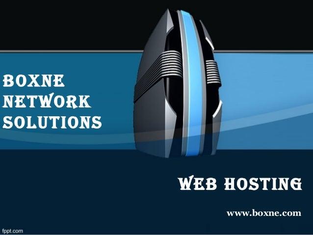 Web Hosting www.boxne.com boxne netWork solutions