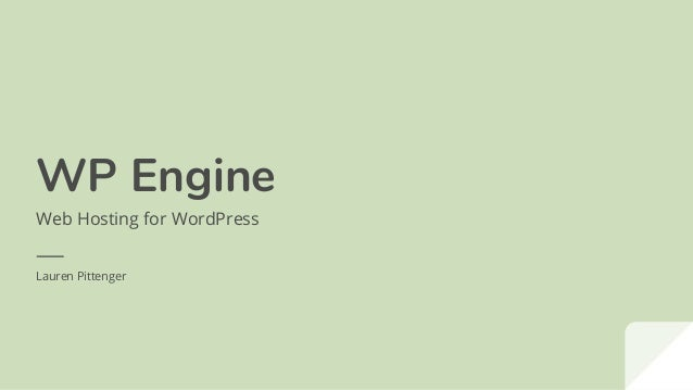 WP Engine Web Hosting for WordPress Lauren Pittenger