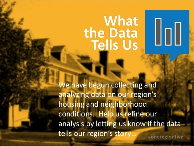 We have begun collecting andanalyzing data on our region'shousing and neighborhoodconditions. Help us refine ouranalysis b...