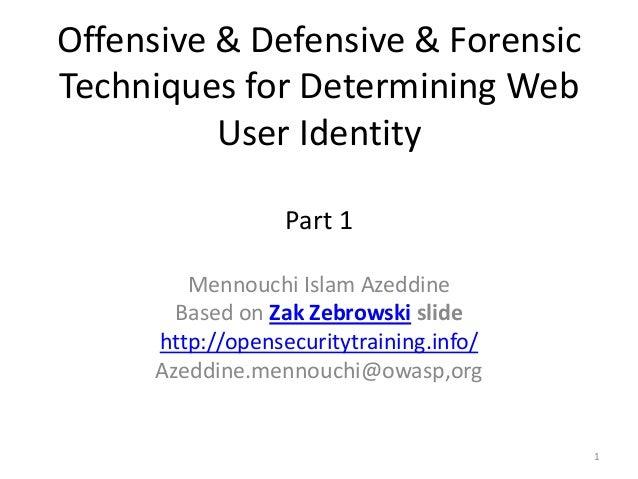 Offensive & Defensive & Forensic Techniques for Determining Web User Identity Part 1 Mennouchi Islam Azeddine Based on Zak...