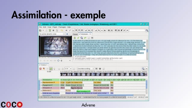 Assimilation - exemple Advene