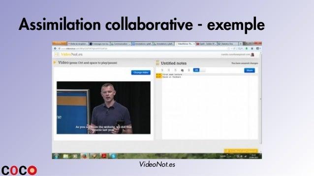 Assimilation collaborative - exemple VideoNot.es