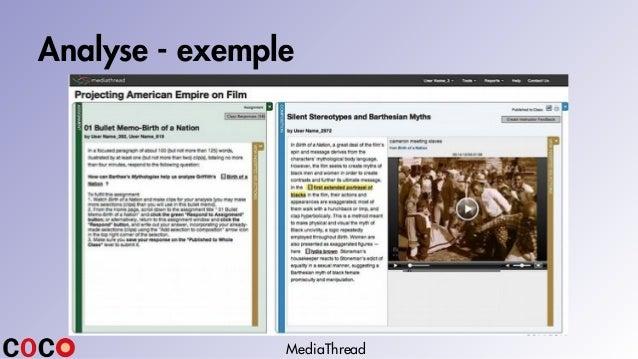 Analyse - exemple MediaThread
