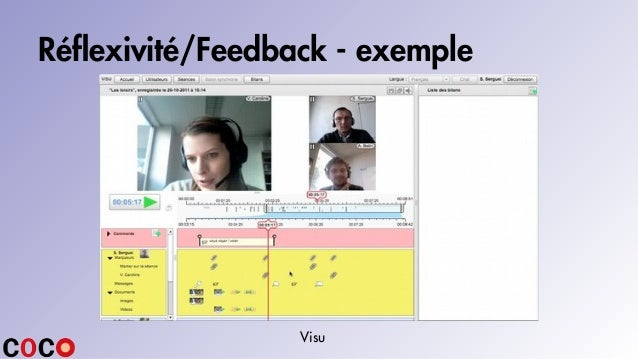Réflexivité/Feedback - exemple Visu