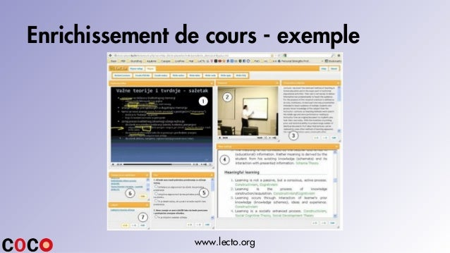 Enrichissement de cours - exemple www.lecto.org