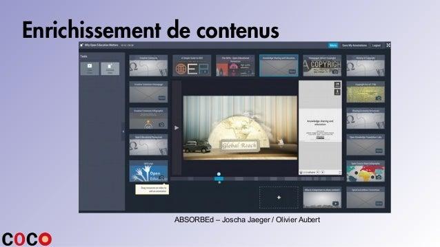 Enrichissement de contenus ABSORBEd – Joscha Jaeger / Olivier Aubert