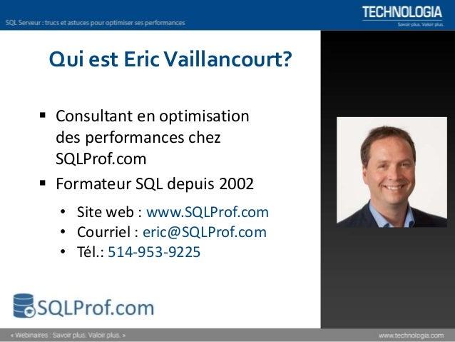 Comment optimiser les performances de SQL Server? [Webinaire] Slide 2