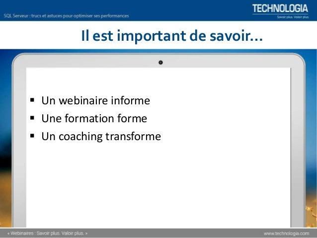 Comment optimiser les performances de SQL Server? [Webinaire] Slide 3