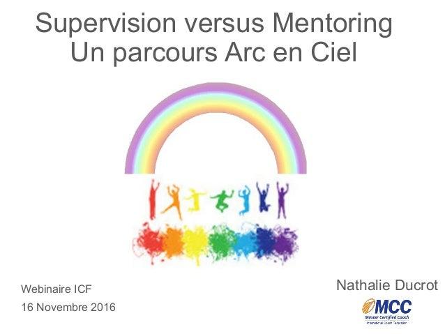 """ICF Synergie : """"Supervision versus Mentoring - Un parcours Arc-en-Ciel"""" de Nathalie Ducrot - SLIDEs Slide 2"""