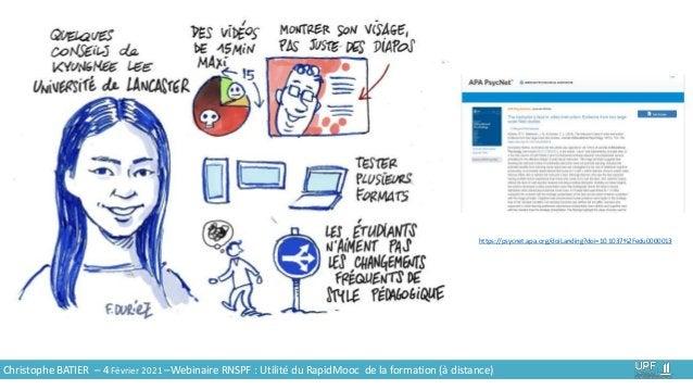 Christophe BATIER – 4 Février 2021 –Webinaire RNSPF : Utilité du RapidMooc de la formation (à distance) https://psycnet.ap...